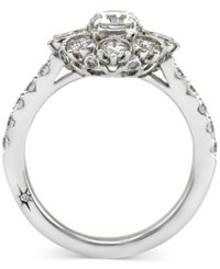 Star By Marchesa Certified Diamond Engagement Ring In 18K White Gold 1 5 8 Ct. T.W.