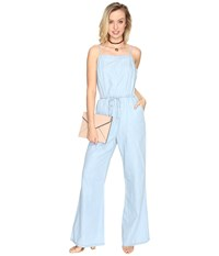 Bb Dakota Coriander Jumpsuit Washed Out Chambray Women's Jumpsuit And Rompers One Piece Blue