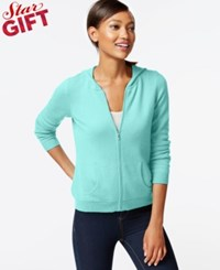Charter Club Cashmere Zip Front Hoodie In 11 Colors Only At Macy's Mint Bowl