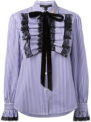 Marc Jacobs Ruffle Placket Shirt Pink Purple