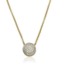 Monica Vinader Ava Button Necklace Female Gold