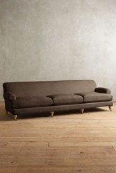 Anthropologie Belgian Linen Willoughby Grand Sofa Wilcox Cafe Noir