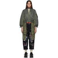 Junya Watanabe Green And Multicolor Flower Print Bomber Jacket