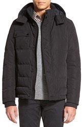 Men's Big And Tall Boss 'Delven' Quilted Down Parka Black