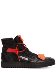 Off White Low 3.0 Leather High Top Sneakers Black