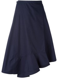 Celine Asymmetric Hem Skirt Blue