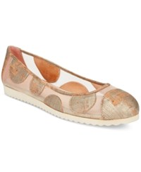French Sole Fs Ny Retro Ballet Flats Women's Shoes Gold