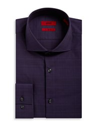 Hugo Slim Fit Cotton Dress Shirt Purple