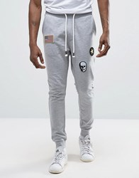 Only And Sons Joggers With Badge Detailing Light Grey Melange