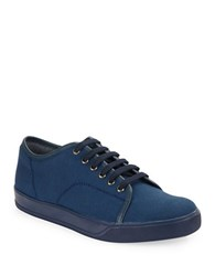 Gbx Mono Canvas Lace Up Sneakers Navy