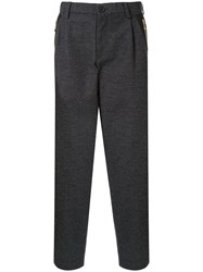 Kolor Drop Crotch Tailored Trousers Grey