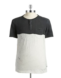 Guess Dip Dyed Henley Jet Black