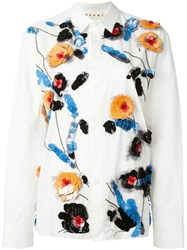 Marni Sequin Embellished Shirt White