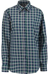 Stella Jean Plaid Cotton Shirt Blue