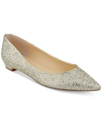 Ivanka Trump Tizzy Pointed Toe Flats Women's Shoes Gold
