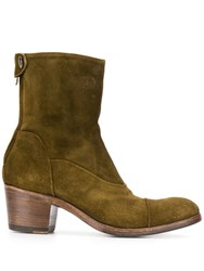 Alberto Fasciani Suede Ankle Boots Green