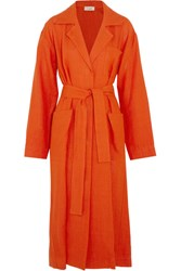 Isa Arfen Safari Linen Coat Orange