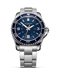Victorinox Swiss Army Maverick Gs Bracelet Watch 43Mm Stainless Navy