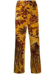 F.R.S For Restless Sleepers Printed Straight Leg Trousers Yellow
