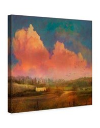 Marmont Hill Pastoral Sunset Painting Print On Wrapped Canvas Orange