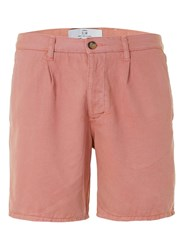 Topman Pink Pleat Slim Chino Shorts