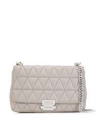 Michael Kors Sloan Quilted Shoulder Bag Grey