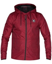 Hurley Men's Runner 2.0 Lightweight Jacket Gym Red