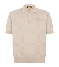 Zilli Embroidered Polo Shirt Beige