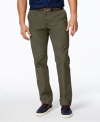 Tommy Hilfiger Men's Custom Fit Chino Pants Burnt Olive