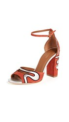 Malone Souliers Nina Strappy Pumps Terracotta Midnight Silver