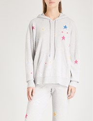 Chinti And Parker Star Intarsia Cashmere Hoody Grey