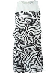 Neil Barrett Zig Zag Print Dress Black