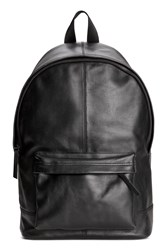 Handm H M Leather Backpack Black