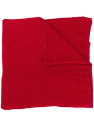 Faliero Sarti Short Scarf Red