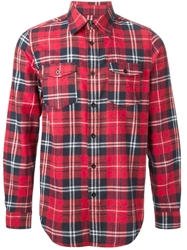 Les Artists Les Art Ists Plaid Flannel Shirt Red