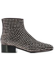 Alberto Gozzi Studded Ankle Boots Grey