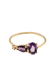 Loren Stewart Diamond Amethyst And Yellow Gold Ring