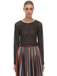 Missoni Viscose Blend Knit Sweater Black