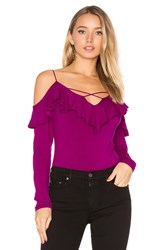 Vava By Joy Han Nicola Top Purple