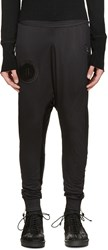 11 By Boris Bidjan Saberi Black Layered Jersey Harem Pants
