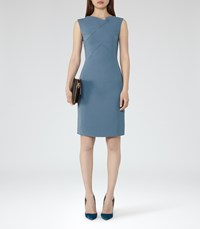 Reiss Aiken Womens Tailored Dress In Blue