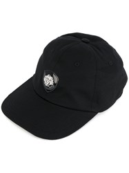 Versus Logo Stud Cap Men Cotton One Size Black