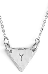 Women's Nashelle Sterling Silver Initial Mini Triangle Necklace Sterling Silver Y