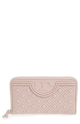 Tory Burch Women's 'Fleming' Quilted Lambskin Leather Continental Wallet Beige Bedrock
