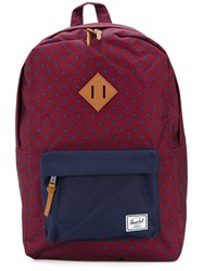 Herschel Supply Co. Diamond Print Backpack Red