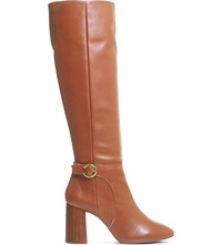 Office Koko Leather Knee High Boots Tan Leather