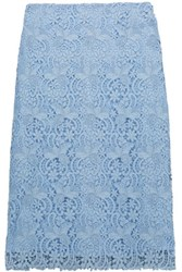 Nina Ricci Cotton Blend Lace Skirt Sky Blue