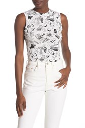 Wildfox Couture Printed Tank Top Clean Whit