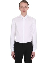 Giorgio Armani Slim Fit Stretch Cotton Poplin Shirt