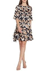 Reiss Kianni Floral Fit And Flare Dress Multi